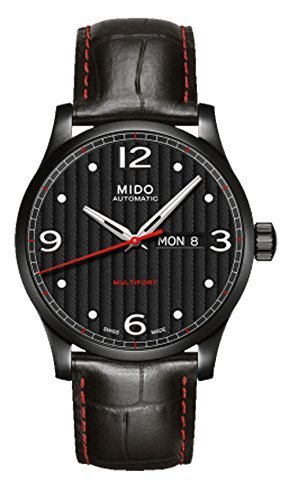 Mido M0054303705000 Multifort Mens Watch - Black Dial Stainless Steel Case Automatic Movement