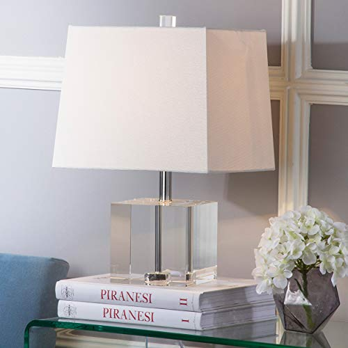 Safavieh Lighting Collection Mckinley Clear 19-inch Table Lamp (Table Lucite Lamp)
