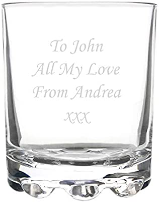 Personalised Lead Crystal Whisky Glass Engraved Best Friend With Free Gift Box