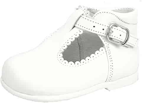 De Osu - Girls White Leather Dress Casual Shoes K-5146 (Toddler) b640f24abbb