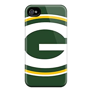RareCases Iphone 4/4s Hybrid Tpu Case Cover Silicon Bumper Green Bay Packers