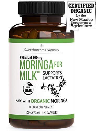 Lactation Supplement Organic Moringa Malunggay – Increase Milk Production Naturally – 100 Natural Gluten-Free – 120 Vegan Moringa Pills 500 mg – Fenugreek Free