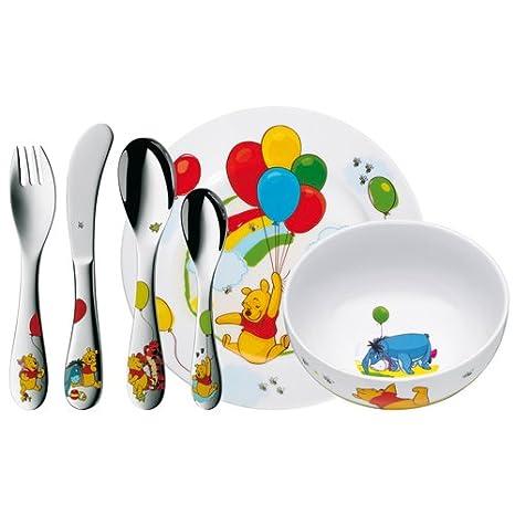 WMF Disney Winnie the Pooh - Vajilla para niños 6 piezas, incluye plato, cuenco