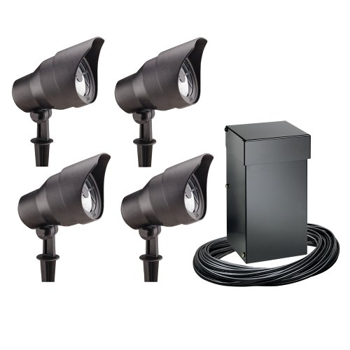 Malibu landscape low voltage lighting landscape lighting pierce intermatic cl10304t malibu outdoor four light lighting kit with 300 aloadofball Choice Image