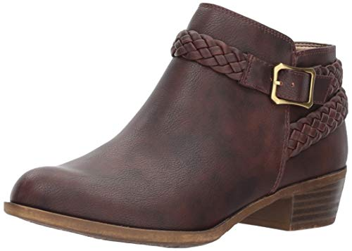 LifeStride Women's Adriana Ankle Bootie Boot, Brown, 7 W US