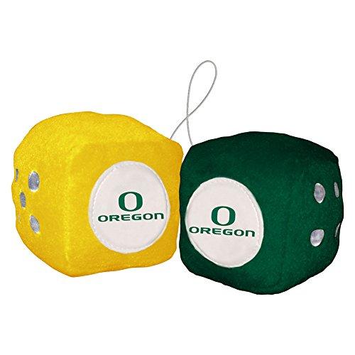 NCAA Oregon Ducks Football Team Fuzzy Dice, Green ()