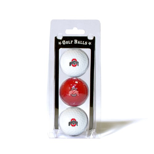 NCAA Ohio State Buckeyes 3 Golf Ball Pack (State Balls Golf Logo Ball)