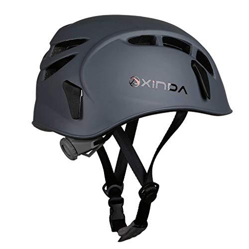 - Heemtle Safety Helmet Rock Climbing Tree Caving Kayaking Rappel Rescue Hard Hat 7 Colors Optional (Adjustable:52-62CM)