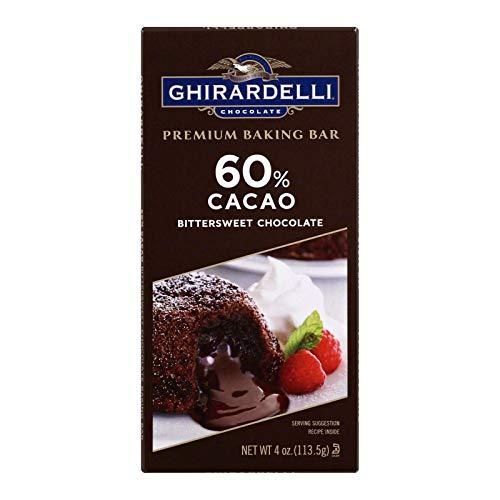 Ghirardelli Baking Bar,Bitterswt Chocolate 4 Oz (Pack Of 12)