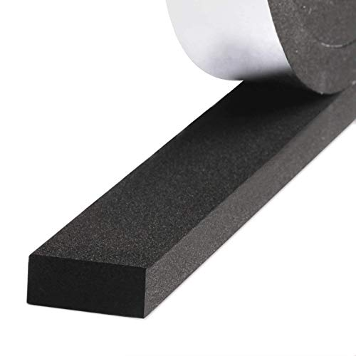 Weather Stripping for Doors, Adhesive Foam Seal Tape Windows Insulation Foam Strip 3/4 Inch Wide X 3/8 Inch Thick X 13 Feet Long (3/4in 3/8in)