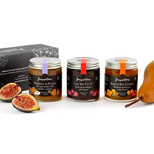 - Jamnation Jam, Organic and Fair Trade, Cheese Lover Trio Gift Set (Set of 3) (Apricot, Fig and Pear)