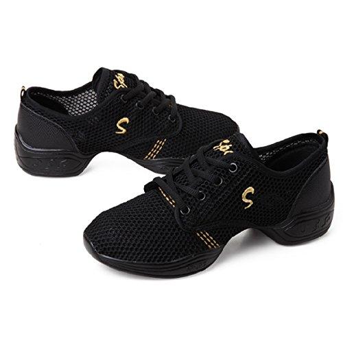Jazz Formateurs De Sneakers Grecques Filles Noires Noir Danse Chaussures Dames Chnhira qaxgIwCt