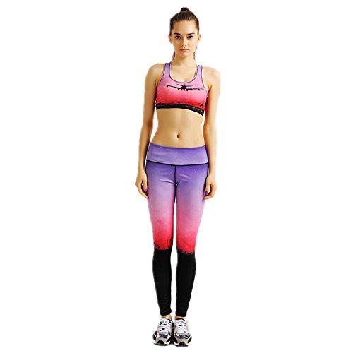 HYHAN Rosa Delgado caída impreso Kit de Yoga 1