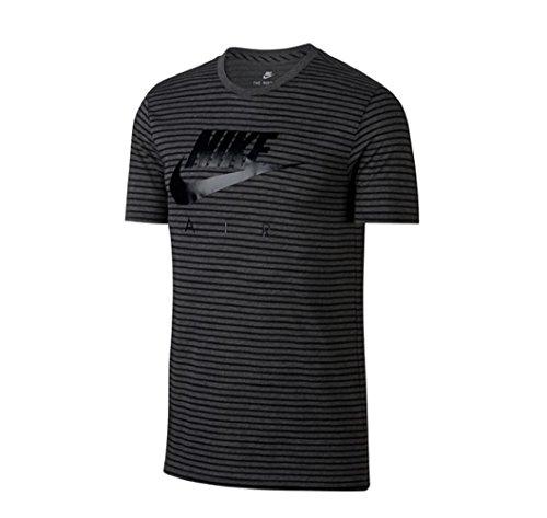 Nike 892213, Camiseta para hombre Negro (Charcoal Heathr/Negro)
