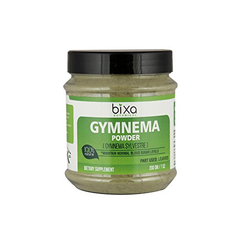 Leaf Gymnema (Gymnema Powder (Gymnema Sylvestre Leaf) – 200g (7 Oz) | Digestive Stimulant | Natural Herbal Supplement for normal blood sugar levels | Supports normal glucose tolerance.)