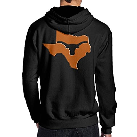 Mens University Of Texas Longhorns Back Printed Graphic Hoodies Sweatshirts Juniors (Hoodies Texas)