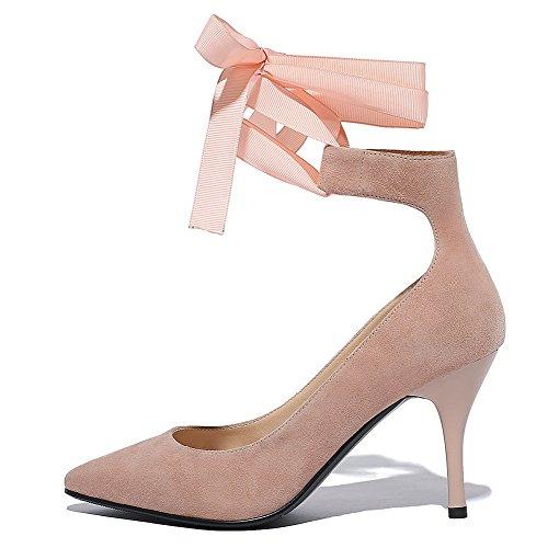 Donne on Solidi Miscela Punta Indicata Weipoot scarpe Rosa Pull Materiali Pompe Tacchi Chiuso tpwYwqrE