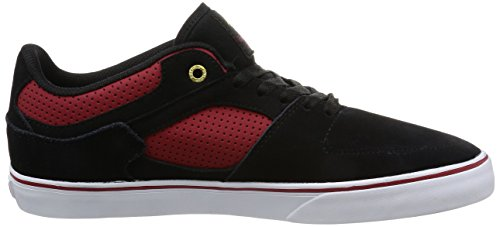 Emerica The Hsu Low Vulc, Color: Black/Red, Size: 43 EU (10 US / 9 UK)
