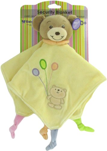 (Russ Baby Bow Teddy Bear Rattle Blanket in Yellow)
