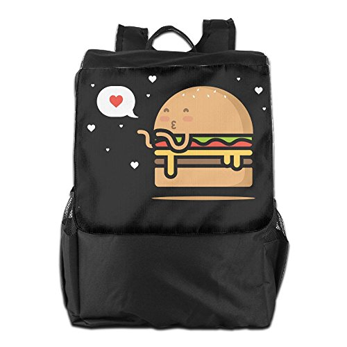 Price comparison product image Olasy Put A Cheeseburger Messenger Bag Shoulder Backpack Travel Hiking Rucksack For Womens Mens Boys Girls School Bookbags One Size