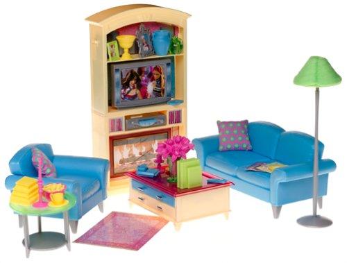 amazon com barbie decor collection living room playset toys games rh amazon com