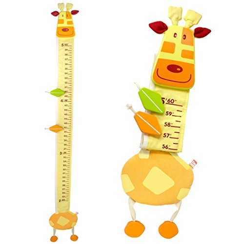 I'm Wood and Fabric Wall Growth Chart, Height Measurement, Scale, Ruler for Kids (Giraffe) (Safari Growth Chart)