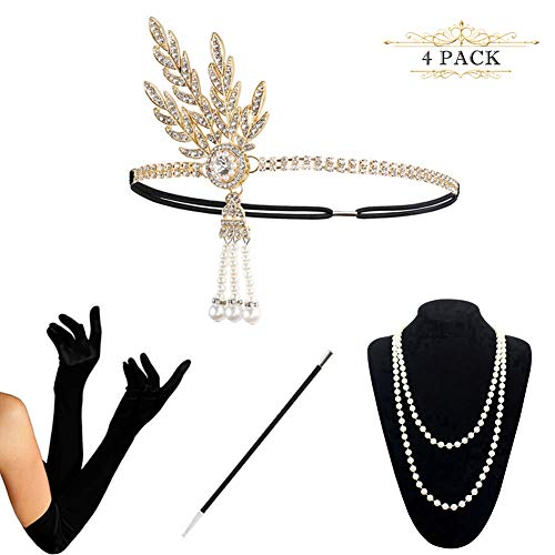 1920s Accessories Set Flapper Costume for Women -