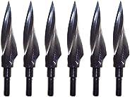 XHYCKJ Archery Hunting Broadheads 12 Pcs Steel Arrow Tips 150Grain