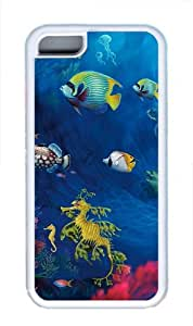 iPhone 5C Case Cover - Underwater Life TPU Back Case for Apple iPhone 5C - White