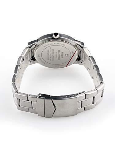 Schweizisk militär 3 händer, datum och armband SMP36004.06