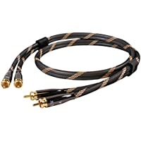 Subwoofer cable, Audiophiles Digital Audio Coaxial Cable 2 RCA Male to 2 RCA Male Stereo Audio Y Cable, SKW Cable for DJ equipment, TVs, Amplifier, Speaker, Home Theater - 3 Feet