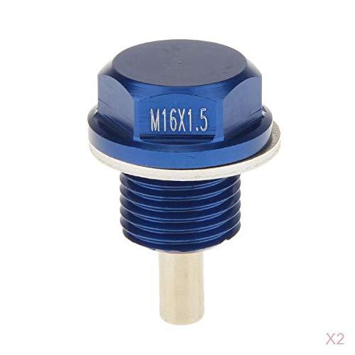KESOTO 2 Pcs Eloxiert M16 x 1,5 Blau Magnetische /Ölablassschraube passend f/ür Subaru Toyota