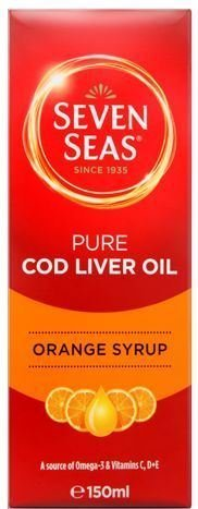 ((Pack Of 4) Seven Seas Health Care - Orange Syrup Cod Liver Oil - (150ml) by Seven Seas)