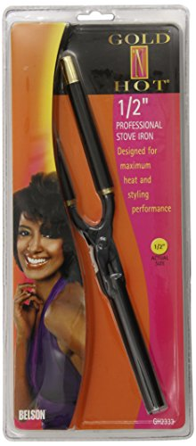Professional Stove Hot - Gold 'N Hot Professional Stove Iron, 1/2 Inch