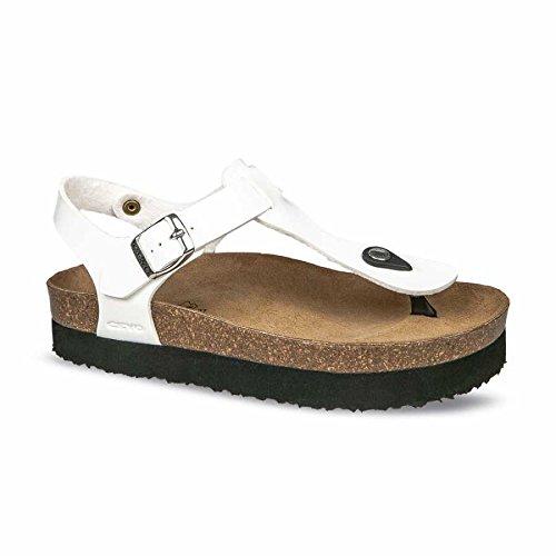 CEYO Back Strap Women's Sandals Flip Flops Slippers 40 (EU)/9 (US) White