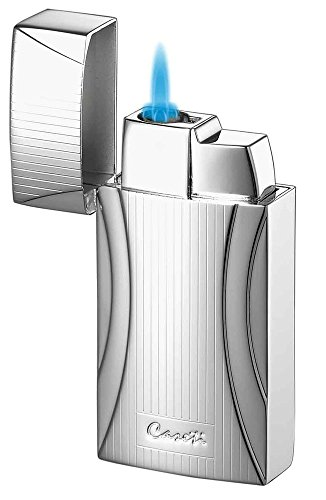 Visol Products Caseti Naxos Chrome Lines II Single Jet Flame Cigar Lighter (Line 2 Lighter)