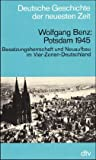Front cover for the book Potsdam 1945 by Wolfgang Benz