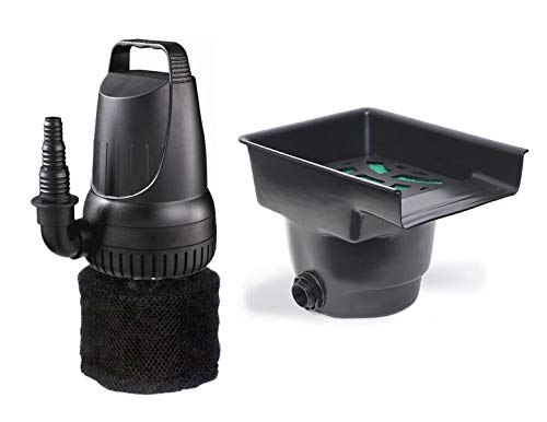 - Pond Pump 1200 GPH and Waterfall Filter Combo with Pump Protector