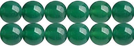 Abalorios de Piedras Preciosas Ágatas Verde Naturales Bola de 6mm para Fabricación de Bisutería y Artesanía Cerca de los 38cm Aprox 60 Piezas