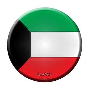 Smart Blonde Kuwait Country Novelty Metal Circular Sign C-323