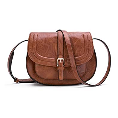 amazon com small purse vintage satchel for women pu leather cover
