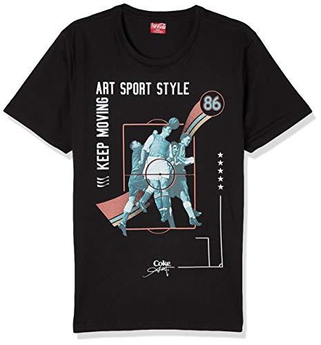 Camiseta Estampada, Coca-Cola Jeans, Masculino, Preto, P