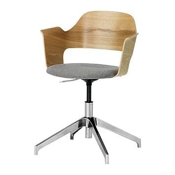 Ikea fjallberget - Sedia da conferenza, quercia, Grigio: Amazon.it ...