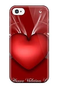 Excellent Design Happy Valentines Big Heart Phone Case For Iphone 4/4s Premium Tpu Case