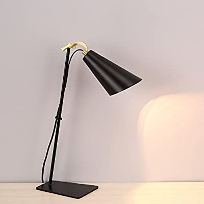 MASO HOME, The Simple Modern Flexible and Adjustable head neck of Vintage Industrial Desk Lamps, Table Lamps with Antique Metal based material
