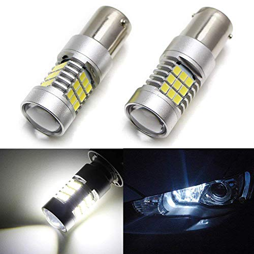 iJDMTOY HID Matching 30-SMD-2835 1156 S25 LED Daytime Running Light Replacement Bulbs For 2008-up Mitsubishi Lancer or Evolution X, Xenon White