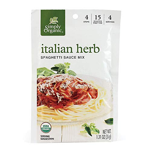 (Simply Organic Italian Herb Spag Sauce Certified Organic, 1.31-Ounce Packets (Pack of 12))