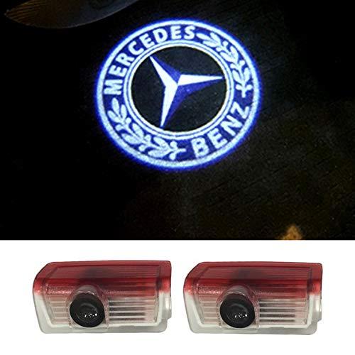 YTYC 2pcs LED Welcome Light Car Door Light Projecting Lamp Mercedes-Benz