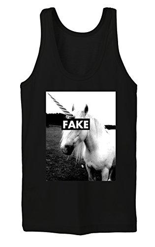 Fake Unicorn Tanktop Girls Nero