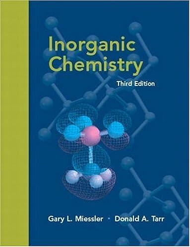 inorganic chemistry 3rd edition gary l miessler donald a tarr rh amazon com